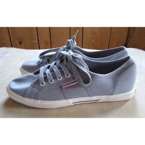 Superga SZ 9 woman's gray canvas sneakers NWOT